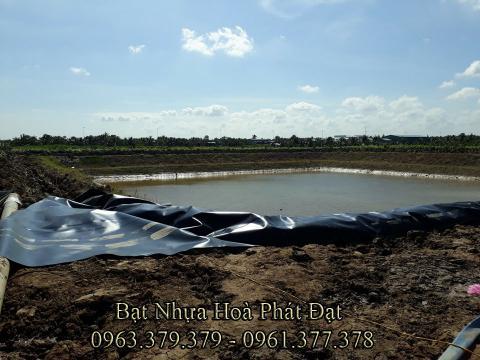 Bảng giá bạt chống thấm lót hồ chứa nước, bán màng (bạt) nhựa đen HDPE lót ao hồ nuôi cá tôm ở tại Tuy Hoà Phú Yên