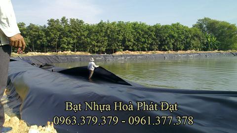 Bảng giá bạt chống thấm lót hồ chứa nước, bán màng (bạt) nhựa đen HDPE lót ao hồ nuôi cá tôm ở tại Đồng Hới Quảng Bình