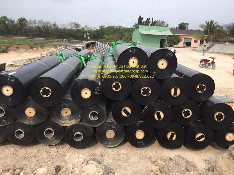 Bảng giá bạt chống thấm lót hồ chứa nước, bán màng (bạt) nhựa đen HDPE lót ao hồ nuôi cá tôm ở tại Hạ Long Quảng Ninh