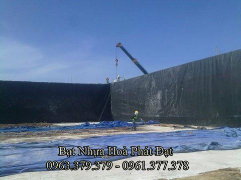 Bảng giá bạt chống thấm lót hồ chứa nước, bán màng (bạt) nhựa đen HDPE lót ao hồ nuôi cá tôm ở tại Đông Hà Quảng Trị