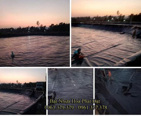 Bảng giá bạt chống thấm lót hồ chứa nước, bán màng (bạt) nhựa đen HDPE lót ao hồ nuôi cá tôm ở tại Tây Ninh