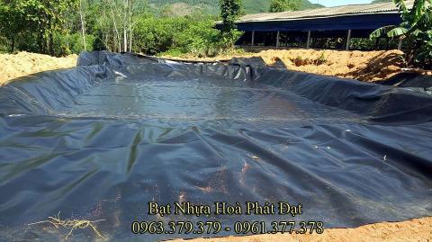 Bảng giá bạt chống thấm lót hồ chứa nước, bán màng (bạt) nhựa đen HDPE lót ao hồ nuôi cá tôm ở tại Vĩnh Yên Vĩnh Phúc