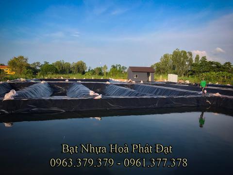 Bảng giá bạt chống thấm lót hồ chứa nước, bán màng (bạt) nhựa đen HDPE lót ao hồ nuôi cá tôm ở tại Tuyên Quang
