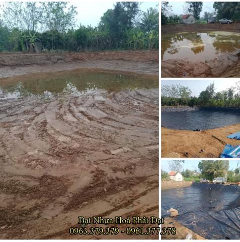 Bảng giá bạt chống thấm lót hồ chứa nước, bán màng (bạt) nhựa đen HDPE lót ao hồ nuôi cá tôm ở tại Thái Nguyên