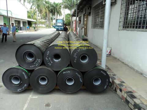 Bảng giá bạt chống thấm lót hồ chứa nước, bán màng (bạt) nhựa đen HDPE lót ao hồ nuôi cá tôm ở tại Ninh Bình